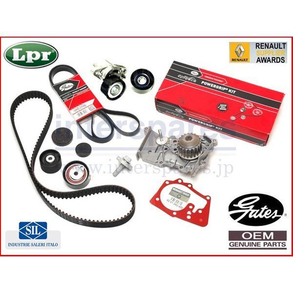 ルノー カングー 1 型式 KCK4M 1.6 OEM対策タイミングベルト キット セット ファンベルト amp; NEW 新作販売 テンショナー OESウォーターポンプ