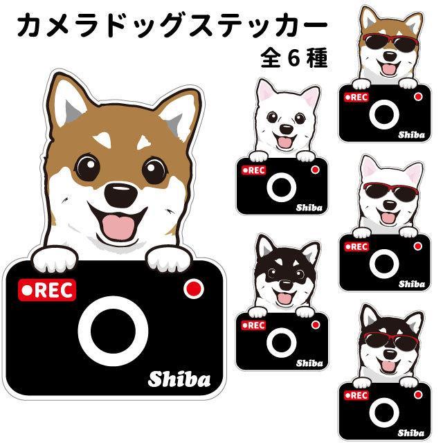 超特価 柴犬 ステッカー カメラドッグ 犬 犬屋 いぬや ドライブレコーダー 可愛い 窓 かわいい 防止 おでかけ あおり運転 ドラレコ 売れ筋 車用 録画