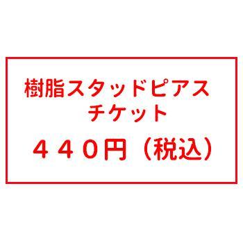オプションチケット 樹脂スタッド ピアス チケット|inuya