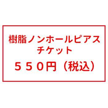 オプションチケット 樹脂ノンホール ピアス チケット|inuya