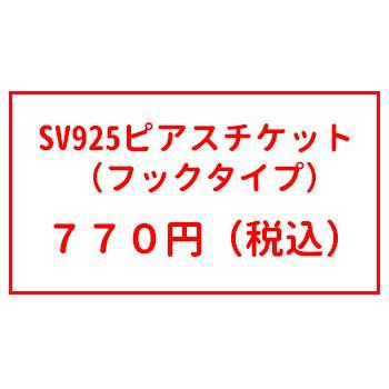 オプションチケット SV925 ピアスチケット(フックピアス) シルバー925|inuya