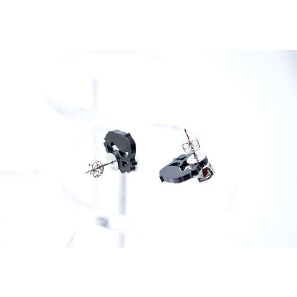 ミニ黒猫 アメジストスワロフスキービジューピアス イヤリング ハンドメイド おしゃれ 猫 グッズ 雑貨 女性 日本製  クリスマス ギフト プレゼント 誕生日 犬屋|inuya|02