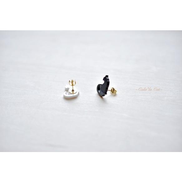 大人気のシンプルな黒猫シルエットピアス(1) ハンドメイド おしゃれ 猫 グッズ 雑貨 女性 日本製  バレンタイン ホワイトデー ギフト プレゼント 誕生日 犬屋|inuya|02