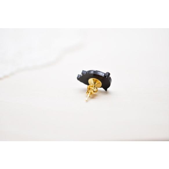 向かい合わせ 子豚ちゃんのシンプルピアス /イヤリング ハンドメイド おしゃれ 猫 グッズ 雑貨 女性 日本製  クリスマス ギフト プレゼント 誕生日 犬屋|inuya|02
