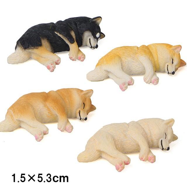 柴犬 ネムネム ミニミニ マグネット 横向き 犬 各種 雑貨 グッズ ポリレジン 犬屋 inuya