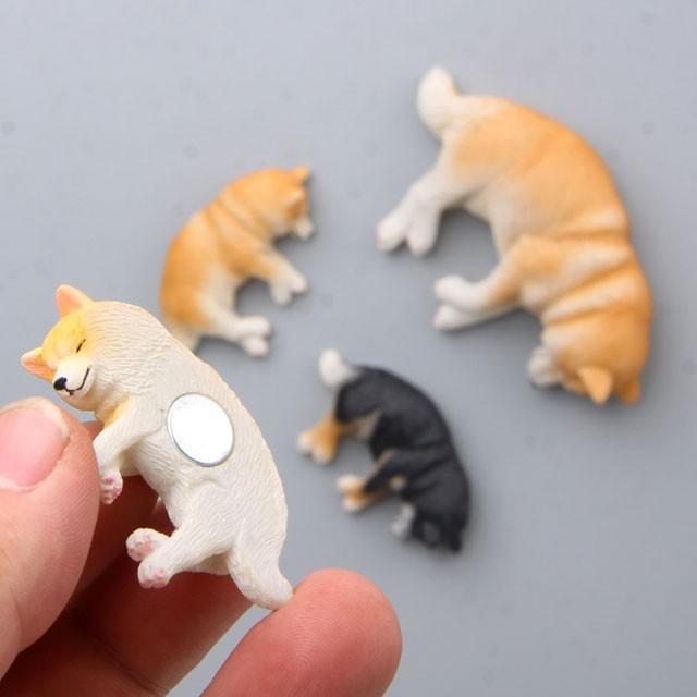 柴犬 ネムネム ミニミニ マグネット 横向き 犬 各種 雑貨 グッズ ポリレジン 犬屋 inuya 04