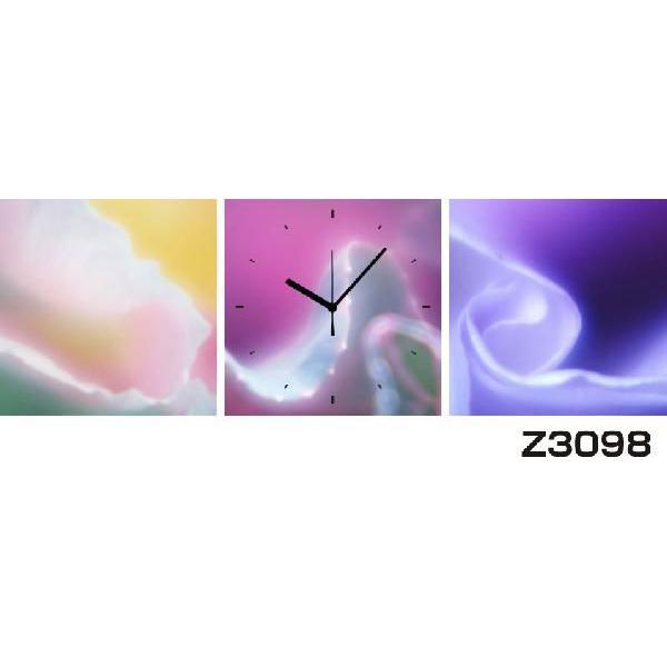 パネルクロック 3枚のアートパネル 壁掛け時計 hOur Design Z3098〈アート〉