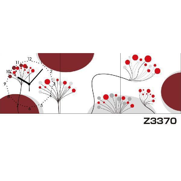 パネルクロック 3枚のアートパネル 壁掛け時計 hOur Design Z3370〈アート〉