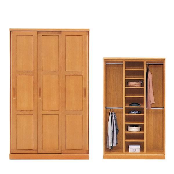 ワードローブ スカーレット120スライド ハンガーラック2列・棚1列 衣類収納 アルダー材使用 収納家具 日時指定不可 大型家具便