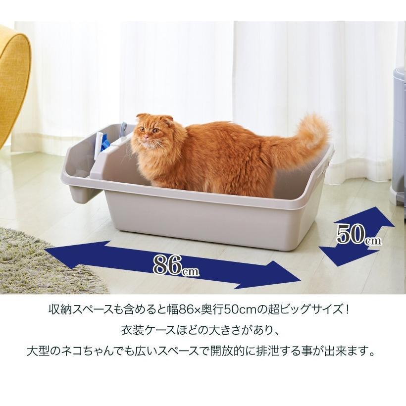 (OFT) HY REX ハイレックス【送料無料(北海道・沖縄・離島等除く)】 [大型 大きい 猫 ネコ ねこ トイレ 多頭 ビッグ 大容量 オープン おしゃれ 人気]|ip-plus|03