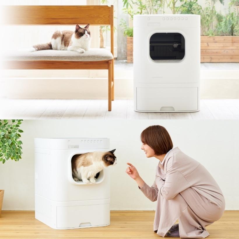 (OFT) 自動猫トイレ Lavvie Bot S (送料無料(北海道・一部地域等除く)) (ネコ ねこ おすすめ おしゃれ トイレ メンテナンス アプリ 相談 電話対応 ネコ OFT)|ip-plus|05