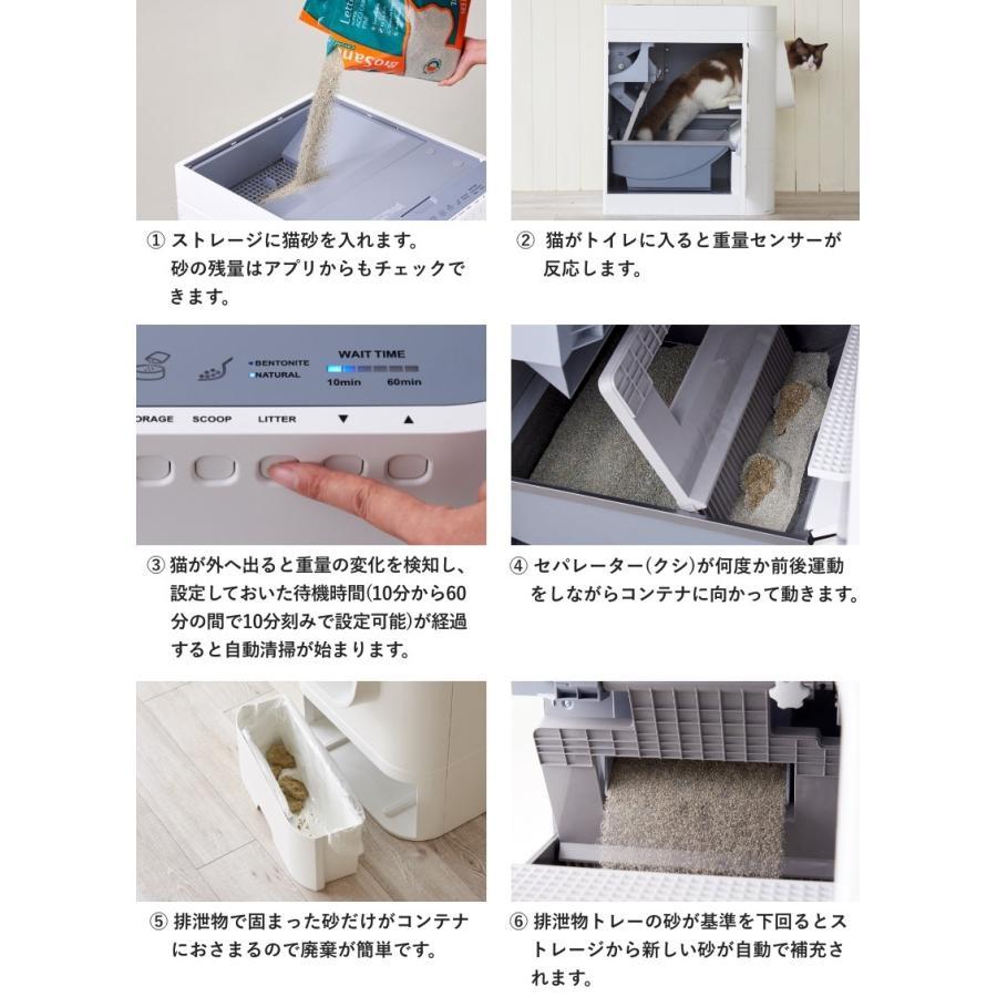 (OFT) 自動猫トイレ Lavvie Bot S (送料無料(北海道・一部地域等除く)) (ネコ ねこ おすすめ おしゃれ トイレ メンテナンス アプリ 相談 電話対応 ネコ OFT)|ip-plus|07