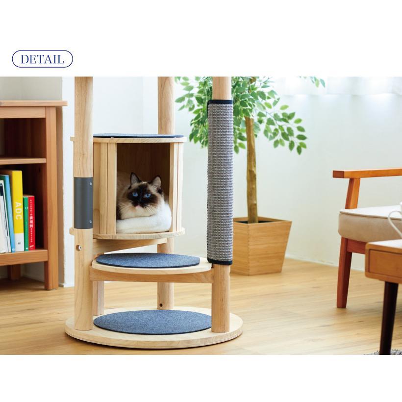 (OFT) キャットタワーHIDAMARI ( 猫 ねこ キャットタワー 爪とぎ ロフト ベッド ハウス 木製 ポール おしゃれ シンプル )|ip-plus|17