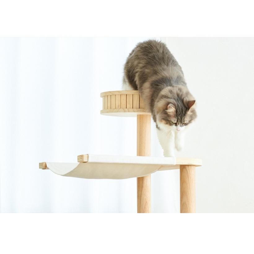 (OFT) キャットタワーHIDAMARI ( 猫 ねこ キャットタワー 爪とぎ ロフト ベッド ハウス 木製 ポール おしゃれ シンプル )|ip-plus|18