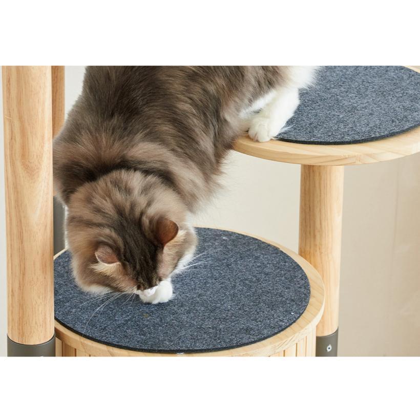(OFT) キャットタワーHIDAMARI ( 猫 ねこ キャットタワー 爪とぎ ロフト ベッド ハウス 木製 ポール おしゃれ シンプル )|ip-plus|07