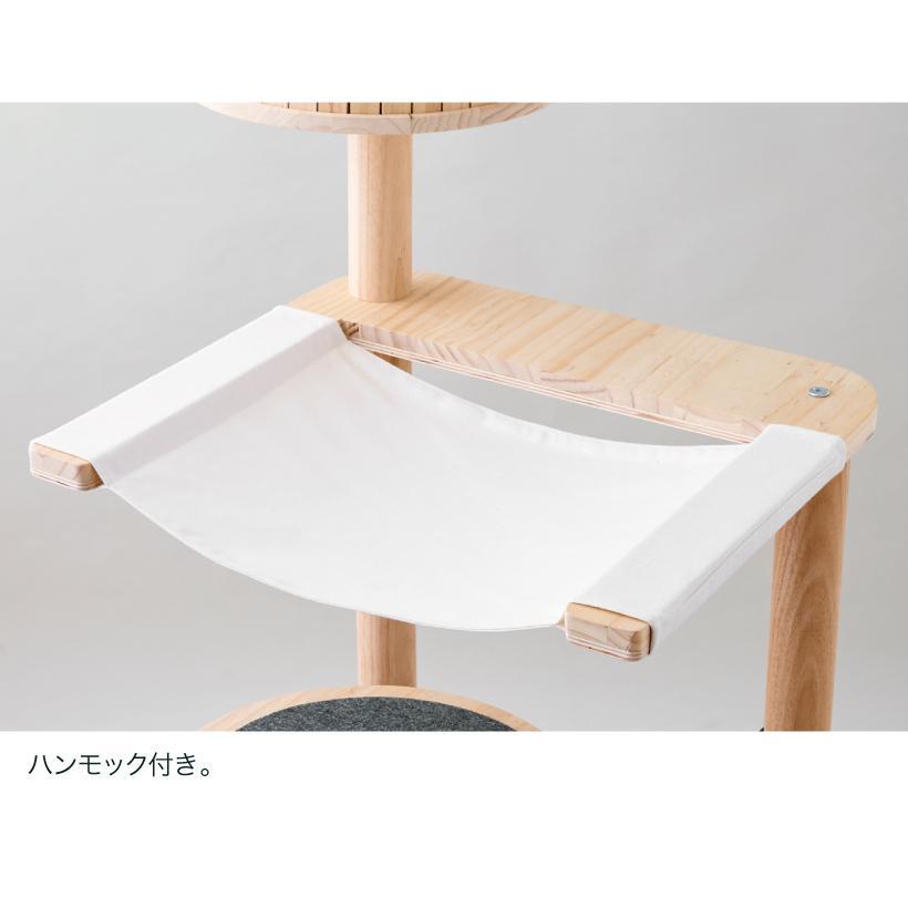 (OFT) キャットタワーHIDAMARI ( 猫 ねこ キャットタワー 爪とぎ ロフト ベッド ハウス 木製 ポール おしゃれ シンプル )|ip-plus|09