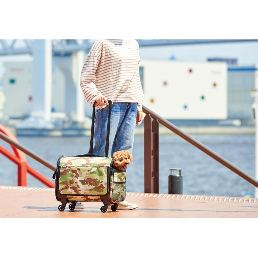 (OFT) ブロッサムリュックキャリー ミリタリールックM (ペットキャリー バッグ リュック ケース カート 犬 猫 おすすめ おしゃれ) ip-plus 18