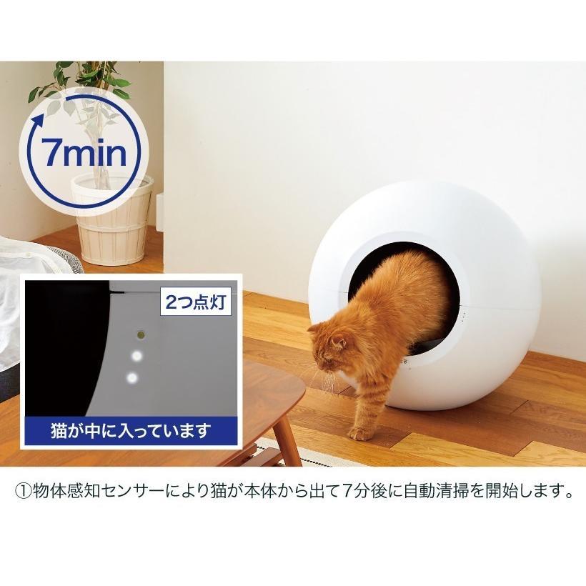 (レビュー記載で猫砂プレゼント!!) (OFT) 自動猫トイレ circle0 サークルゼロ おから猫砂PULFINO 6箱プレゼント【送料無料(北海道・沖縄・離島等除く)】|ip-plus|09