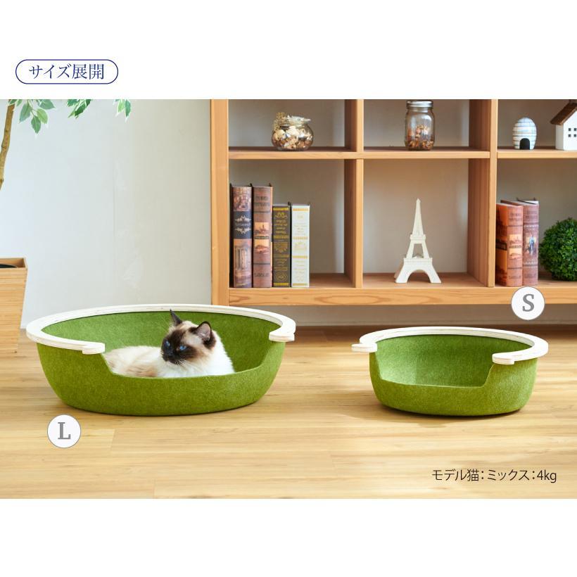 (OFT) フェルトキャットベッド L ( ペット ベッド ハウス おしゃれ 木 ウッド インテリア かわいい フェルト 猫 ネコ ねこ )|ip-plus|12