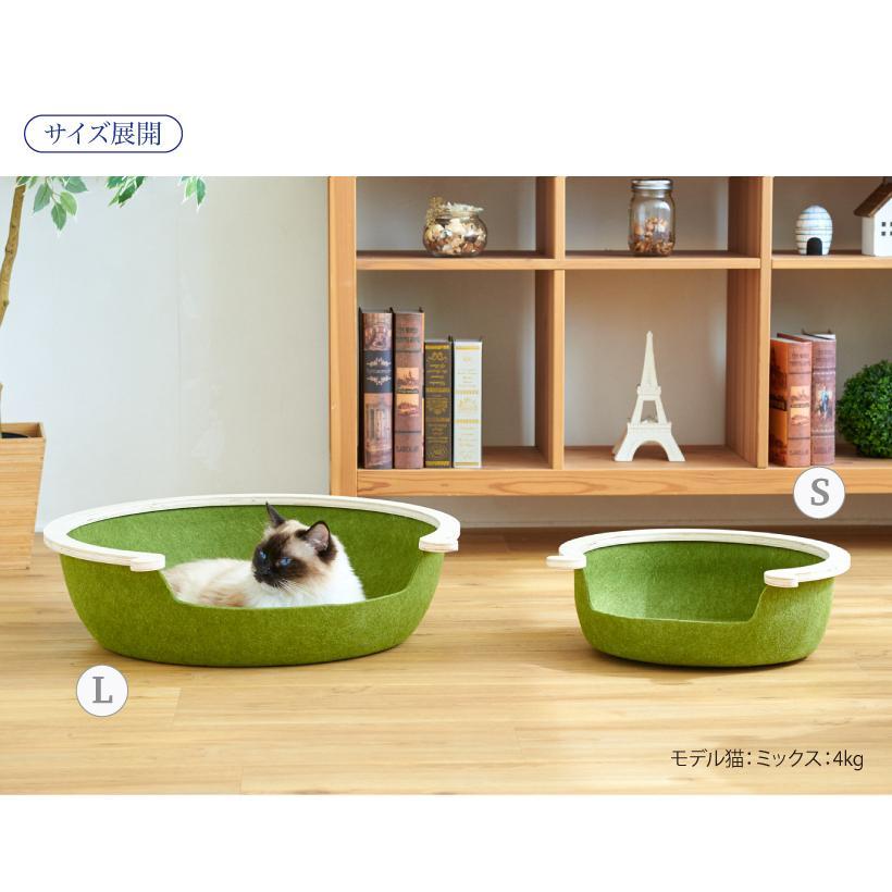 (OFT) フェルトキャットベッド S ( ペット ベッド ハウス おしゃれ 木 ウッド インテリア かわいい フェルト 猫 ネコ ねこ )|ip-plus|13