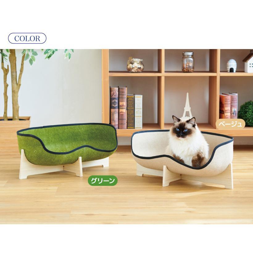(OFT) フェルトキャットソファ (ペット ソファ おしゃれ ウッド インテリア かわいい フェルト 猫 ネコ ねこ )|ip-plus|11