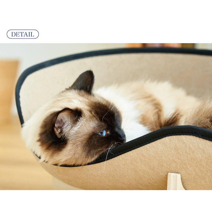 (OFT) フェルトキャットソファ (ペット ソファ おしゃれ ウッド インテリア かわいい フェルト 猫 ネコ ねこ )|ip-plus|09