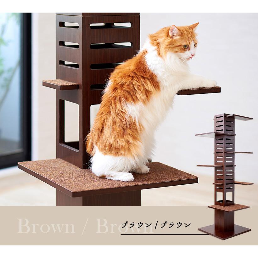 (OFT) 据え置き型キャットタワー necobacoT(ネコバコ T) 【送料無料(北海道・E沖縄・離島等除く)】 (猫 ねこ ネコタワー スリム シンプル 多頭 おしゃれ 木製)|ip-plus|16
