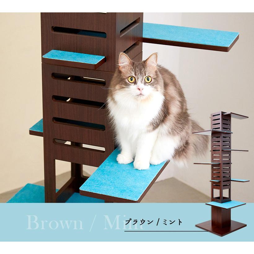 (OFT) 据え置き型キャットタワー necobacoT(ネコバコ T) 【送料無料(北海道・E沖縄・離島等除く)】 (猫 ねこ ネコタワー スリム シンプル 多頭 おしゃれ 木製)|ip-plus|17