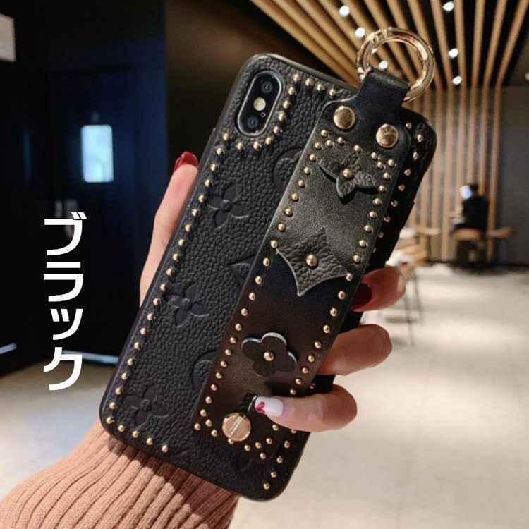 スマホケース IPhone SE2 第2世代 ベルト付き iphone11 11Pro 11Pro Max アイフォン iphone7 8 7plus 8plus 落下防止 Iphone XS Max 花柄 おしゃれ ストラップ iphonetecyougata11 09
