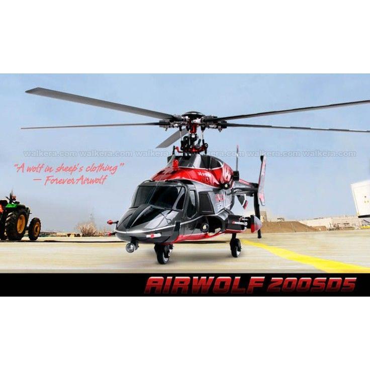 Walkera Airwolf 200SD5 BNF CNC メタル製 Flybarless 6チャネルの 3軸 RCヘリコプター(DEVO送信機用)≪超音速攻撃ヘリ エアーウルフ≫