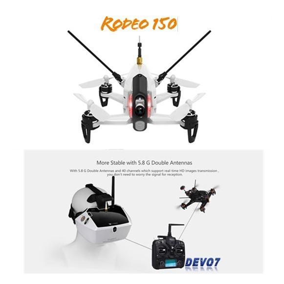 <ワルケラ正規代理店>Walkera Rodeo 150 & DEVO 7 レーシング Goggle 4 3D版 RC クアッドコプター RTF 2.4GHz  (600TVL カメラ/バッテリー/充電器付き)