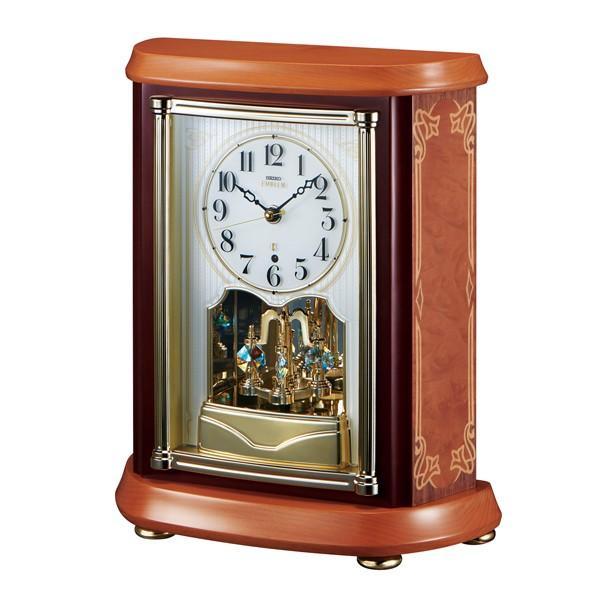 【セイコー・エムブレム】SEIKO EMBLEM 電波置き時計・木象嵌 HW595B【時の逸品館】