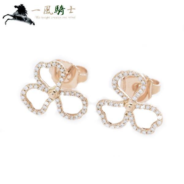 TIFFANY&Co. ダイヤモンド オープン フラワー ピアス K18PG×ダイヤモンド 中古 349820