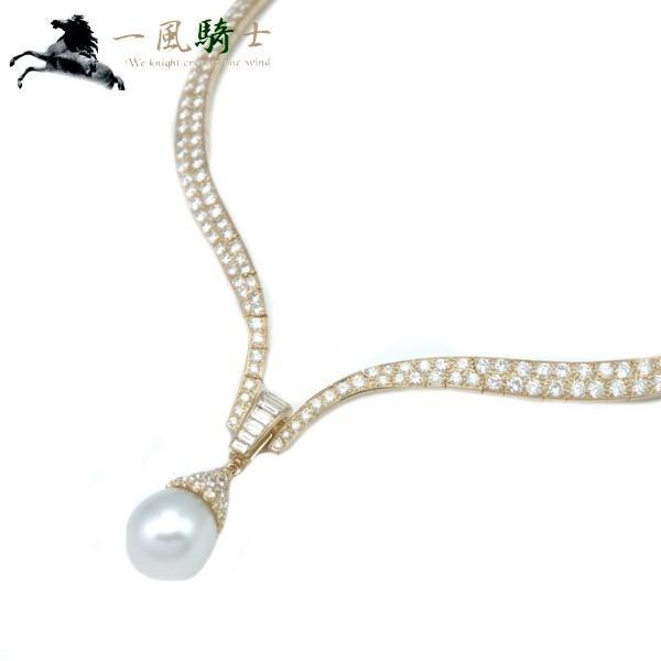 超可爱 VanCleefArpels パール ネックレス K18YG×ダイヤモンド×パール  (180862), 床材専門店フロアバザール fca9eb69