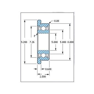 ミネベア ボール・ベアリング DDLF-850ZZ フランジ付 ステンレス 5x8x2.5mm|irijon-y