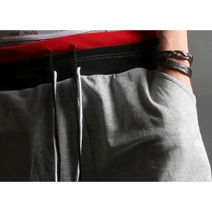 サルエルパンツ スポーツハーフパンツ メンズ スウェット 薄手 7分丈 メンズパンツ スウェットパンツ|irisblue|16