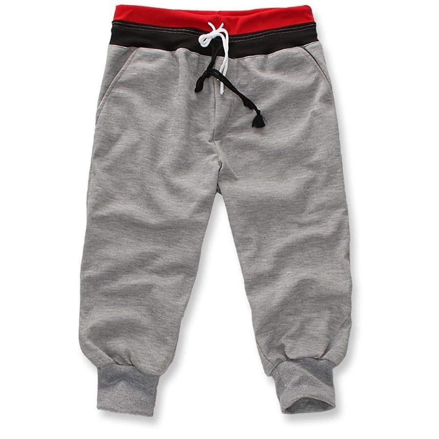 サルエルパンツ スポーツハーフパンツ メンズ スウェット 薄手 7分丈 メンズパンツ スウェットパンツ|irisblue|18