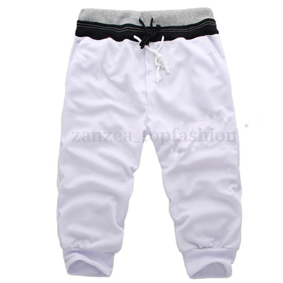 サルエルパンツ スポーツハーフパンツ メンズ スウェット 薄手 7分丈 メンズパンツ スウェットパンツ|irisblue|07