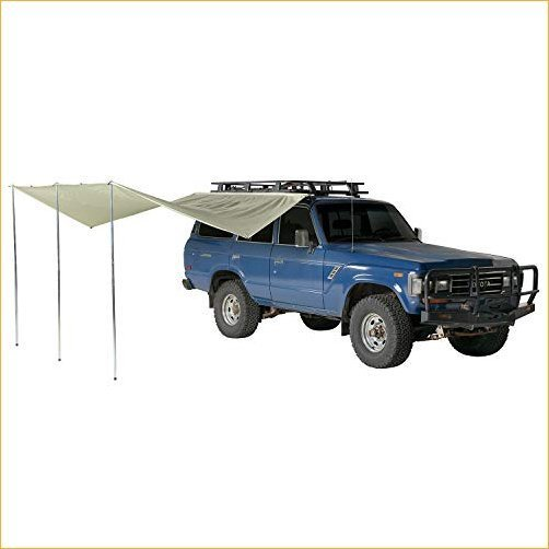 Springbar AutoFly Synthetic Canvas Overland Vehicle Awning and Sun Shade for Roof Rack or Cross Bars 並行輸入品