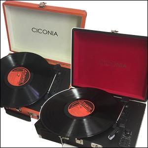 レコードプレーヤー Bluetooth スピーカー内蔵 再生 録音 MP3 対応 クラシック レトロ デザイン クラシカルレコードプレーヤー チコニア TY-1706|iristopmart123