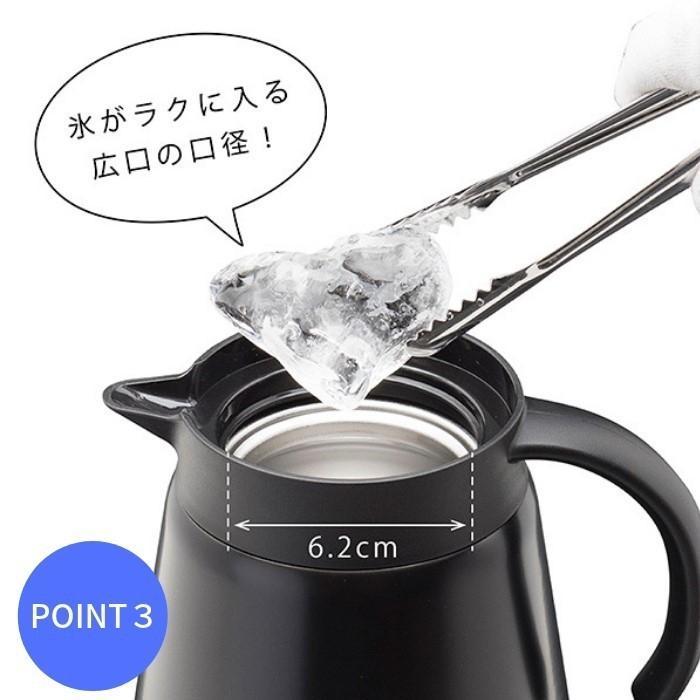 コーヒーサーバー コーヒー 珈琲 ドリップ 保温 保冷 コーヒーポット ドリップポット ステンレスポット 600ML ACS-601 CURRENT「カレント」|irodorikukan|08