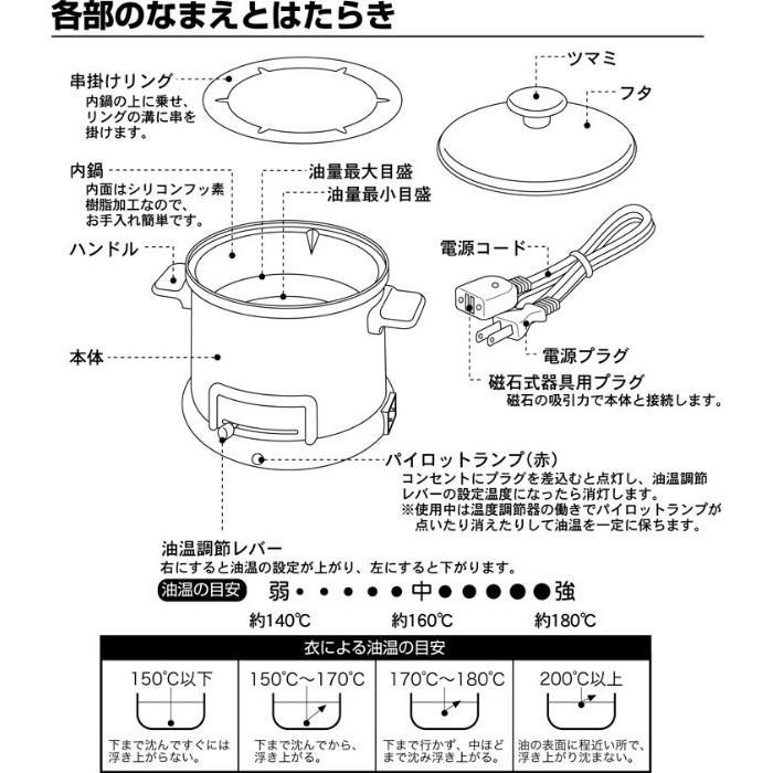 ほんわかふぇ 電気卓上 串揚げ鍋 HR-8952 日本製 和平フレイズ irodorikukan 06