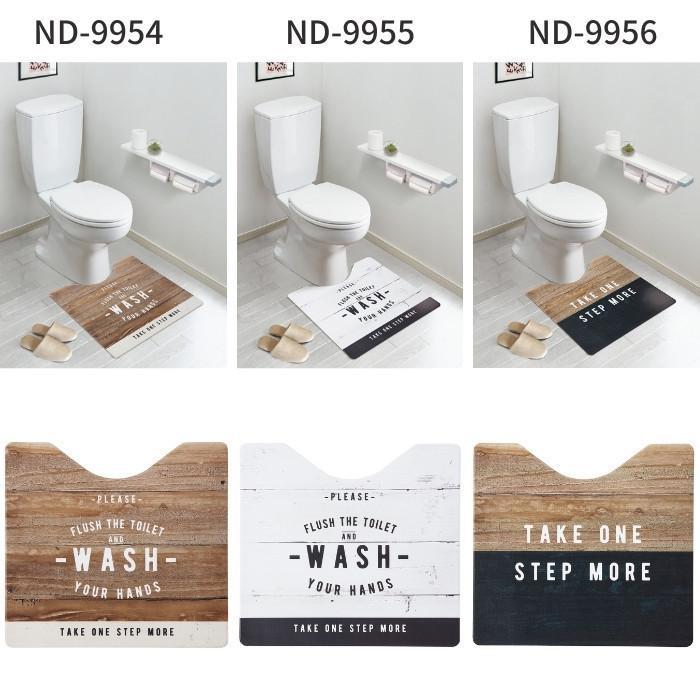 トイレマット 拭ける 60×60cm 60×55cm 60×80cm おしゃれ 北欧 PVC 撥水 ベストコ|irodorikukan|09