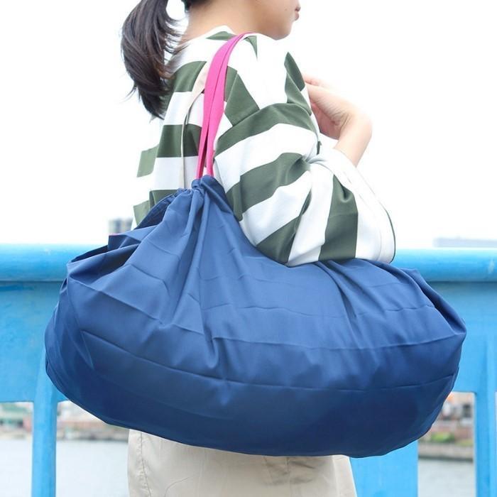 シュパット エコバッグ レジカゴ用バッグ Lサイズ 折りたたみ マーナ Shupatto コンパクトバッグ ショッピングバッグ|irodorikukan|02