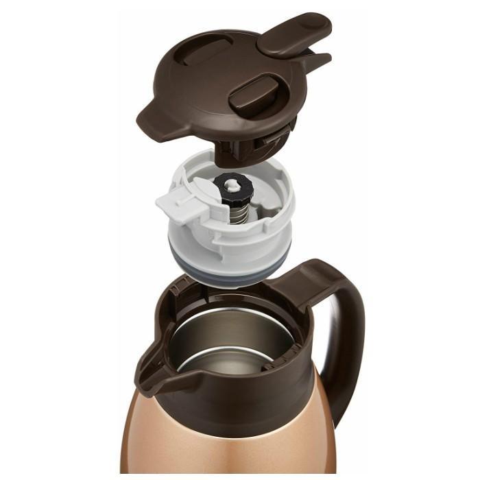 象印 ステンレス ポット 水筒 おしゃれ 保温 保冷 1.5リットル SH‐HB15-NZ カッパー コーヒー|irodorikukan|03