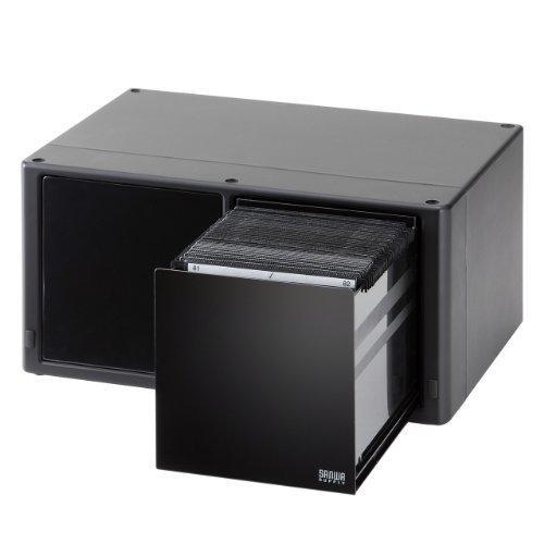 サンワダイレクト DVD・CD収納ケース 大容量 160枚収納 ワンプッシュで自動オープン! ブラック 200-FCD038|iron-peace|02