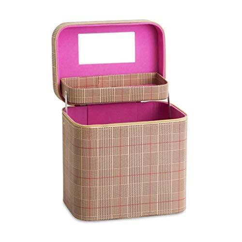 SZTulip コスメボックス メイクボックス 大容量メイクケース 化粧品収納ケース 小物入れ 鏡付き 化粧箱 (コーヒ?|iron-peace|02