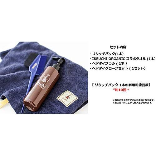 【 ノンシリコーン 鉱物油 無添加 白髪染め 】ayaki リタッチパック 190 g スペシャルセット (ヘアダイブラシ コラ iron-peace 06