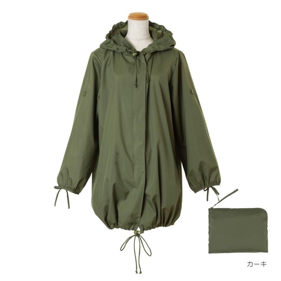 レインコート ビコーズ  モッズコート 全2色 レインコート フリーサイズ DD-01858 レディース おしゃれ かわいい コート|iru|02