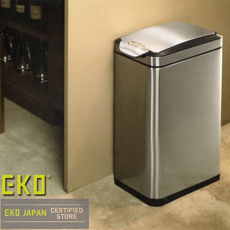 ポイント10倍 ゴミ箱 ごみ箱  ふた付 縦型 タッチ開閉 ステンレス製  EKOJAPAN タッチプロ ビン スリム 30L EK9177MT-30L|iru